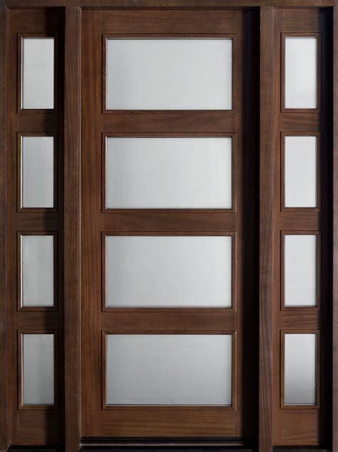 contemporary entry doors entry door in stock single with 2 sidelites solid wood