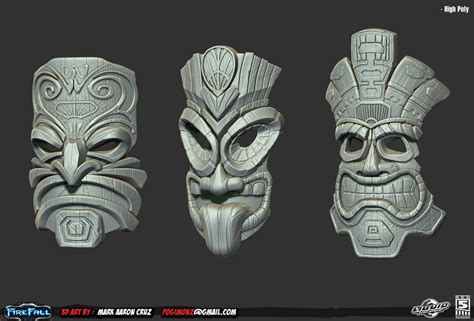 tiki head tattoo designs tiki on maori statues and masks