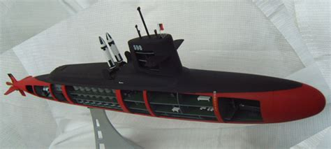 model kits a plastic model of george washington submarine model
