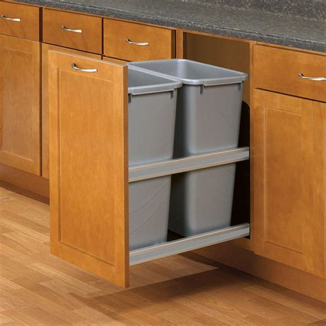 double garbage can cabinet knape vogt 23 in d x 15 in w x 22 in d plastic in