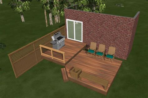 Diy Deck Plans by 2 Level Diy Deck Plans