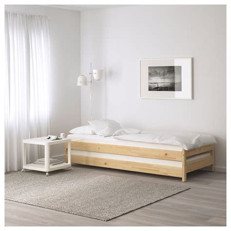 stackable beds ut 197 ker stackable bed pine 80x200 cm ikea