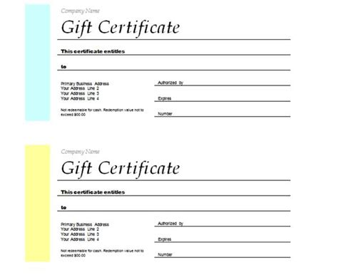 microsoft gift certificate template free word free gift certificate templates microsoft word templates