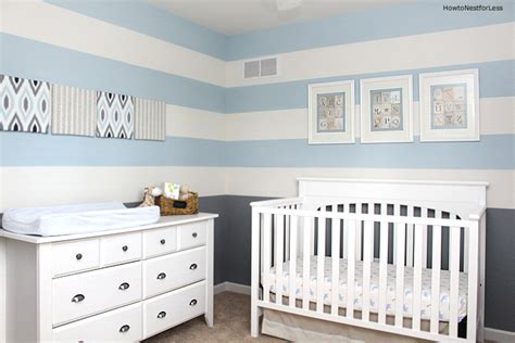 Sherwin Williams Paint Colors For Bedrooms baby boy striped nursery how to nest for less
