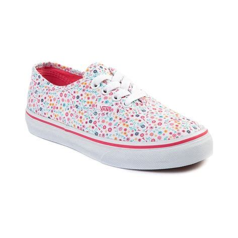 journey kid shoes shop for youth vans authentic floral skate shoe in white