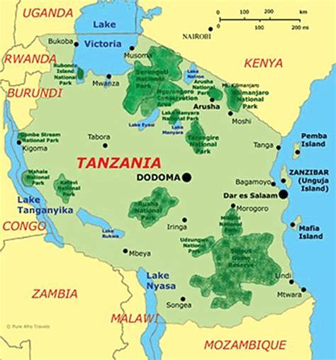 africa map tanzania map of tanzania