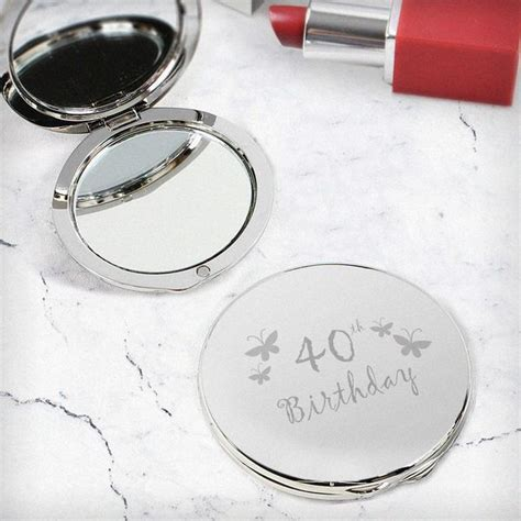 40th Butterfly Round Compact Mirror [NP0102D16]   ?20.99