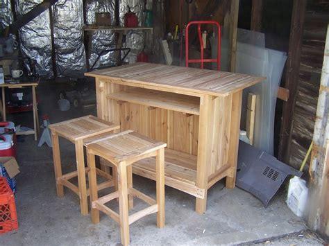 Outdoor Cedar Bar Stools by Out Door Cedar Bar By Bob Kollman Lumberjocks
