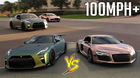 audi r8 tanner intense drag race vs tanner braungardt s audi r8 youtube