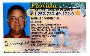florida id exle when you go to a driver license