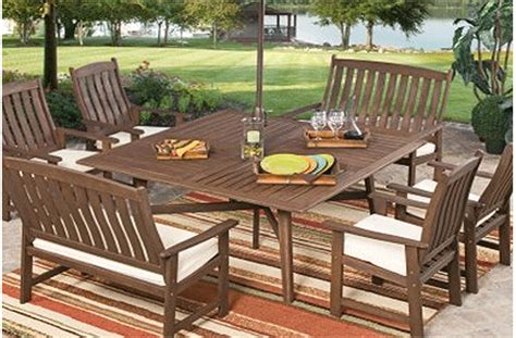 patio furniture woodland wood patio furniture sets outdoorlivingdecor