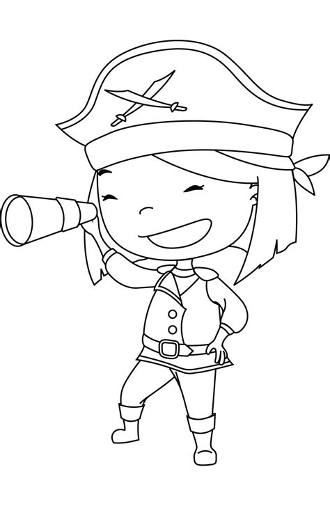 Girl Pirate Coloring Pages Coloring Home Free Pirate Coloring Pages For Coloring Home