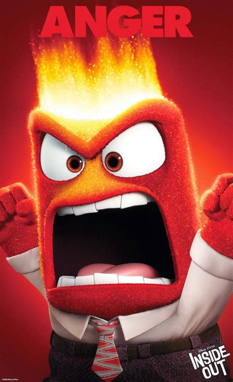 Boneka Inside Out Anger New new inside out character posters devote mental energy leading emotions collider