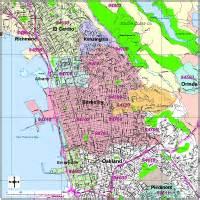 berkeley california zip code map berkeley digital vector maps editable