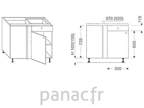 Largeur Plan De Travail 325 by Meuble Bas De Cuisine D Angle Dn 115 Np