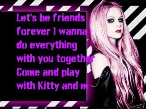 theme song of hello kitty lyrics hello kitty avril lavigne lyrics youtube