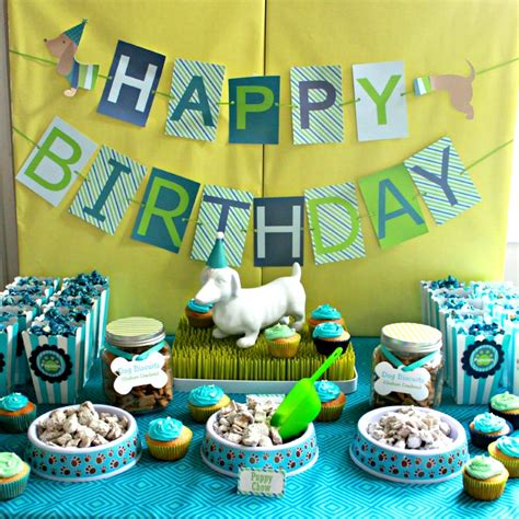 themed birthday parties puppy themed birthday party project nursery