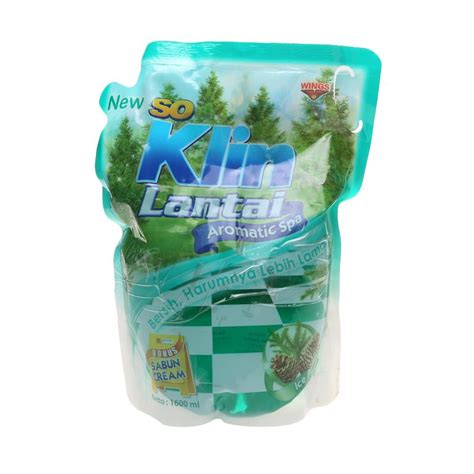 So Klin Pembersih Lantai 900ml jual so klin pembersih lantai hijau pouch 1600 ml 1060361 harga kualitas