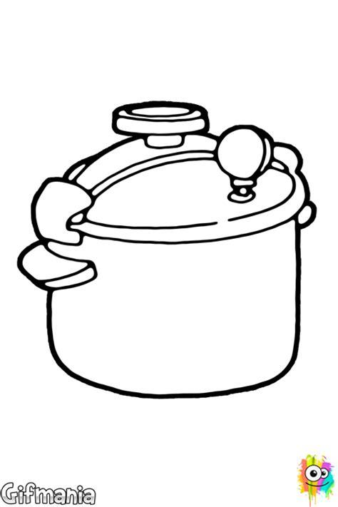 cocinar olla presion dibujo de olla a presi 243 n para colorear