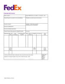 free fedex commercial invoice template pdf eforms
