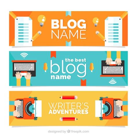 design blog header online free blog headers in flat design vector free download