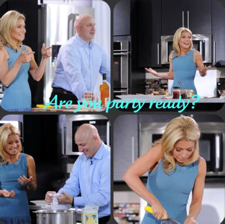 how does kelly ripa get the bends in her hair get party ready with kelly ripa and tom collichio rolemommy