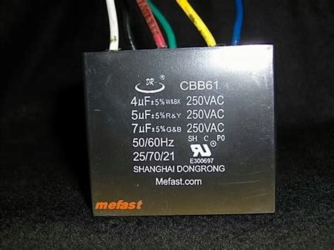 ceiling fan speed capacitor ceiling fan capacitor cbb61 4uf 5uf 7uf 6 wire ebay