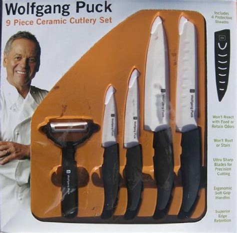 wolfgang puck kitchen knives specialty knives wolfgang puck 9 ceramic cutlery