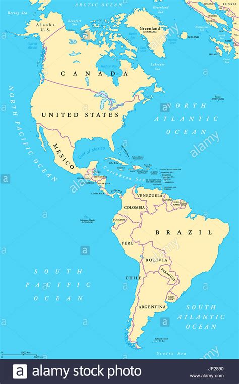 america political map the americas and south america political map with