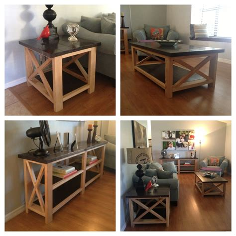 rustic end table ideas coffee table design ideas ana white rustic x coffee table end table and console