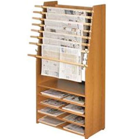 Newspaper Shelf brodart newspaper displayer with storage shelves
