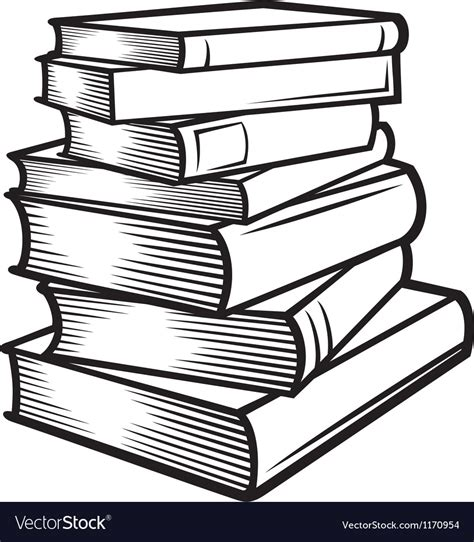 Stack of books Royalty Free Vector Image   VectorStock