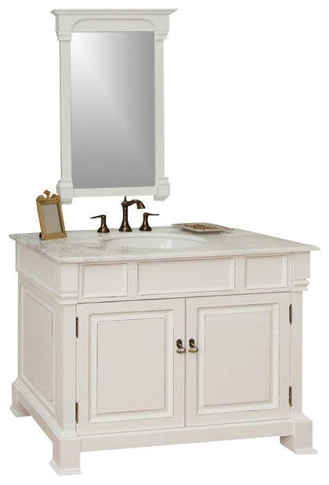 42 white bathroom vanity 42 in single sink vanity wood white transitional