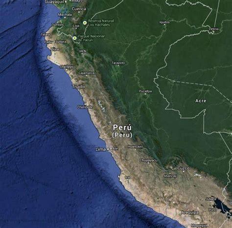 imagenes satelitales peru mapa de per 250