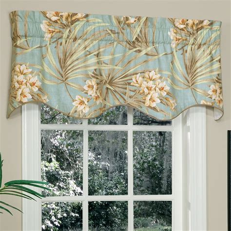 Shaped Valances For Windows Martinique Tropical Shaped Window Valance