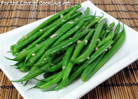 garlicky green beans for the love of cooking