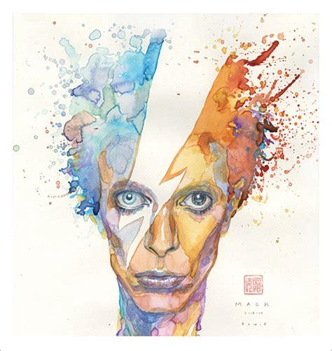 david mack print bowie nucleus art gallery and store