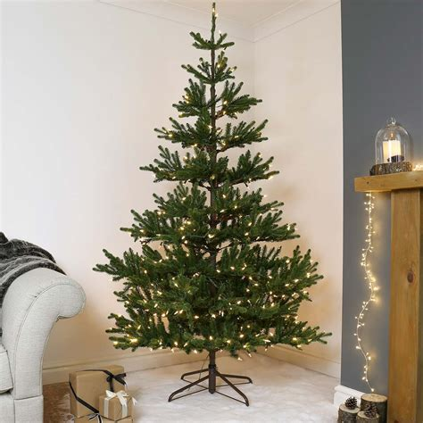 national tree snowy impearial 7t pre lit green real imperial spruce artificial tree