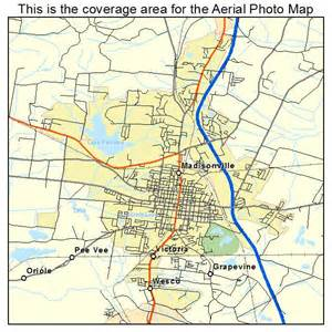 aerial photography map of madisonville ky kentucky