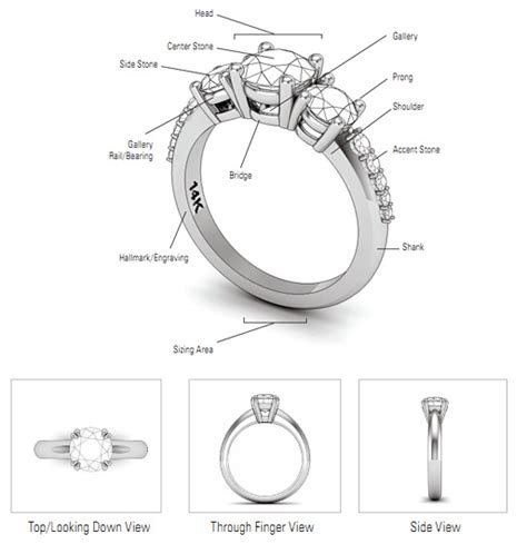 jewelry terms anatomy of an engagement ring malak jewelers