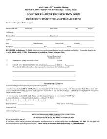 Golf Registration Form Template by Free Registration Form Template Golf Tournament