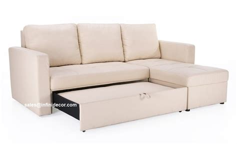 Chaise Sofa Sleeper With Storage Beige White Sectional Sofa Bed With Storage Chaise Sleeper Futon Ebay