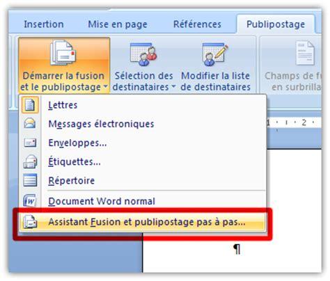 Modèles De Lettre Word 2007 Word Et Le Publipostage