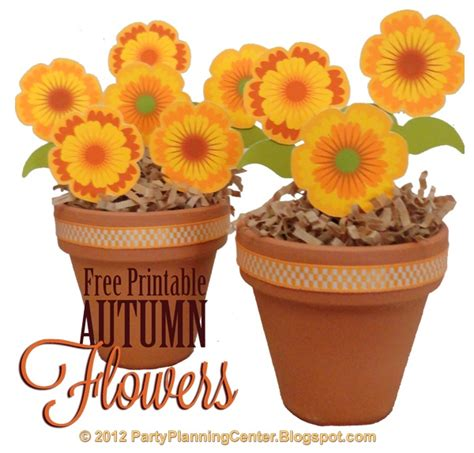 free printable fall flowers free printable fall flowers template craft ideas pinterest