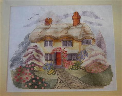 country cottage cross stitch rural country cottage scene cross stitch charts patterns
