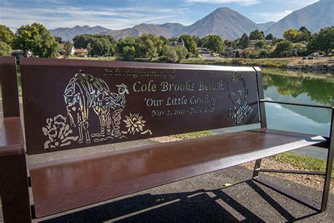 metal memorial benches custom memorial benches