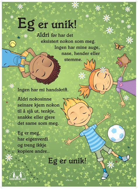 Plakat Unik by Plakat Eg Er Unik Voksne For Barn