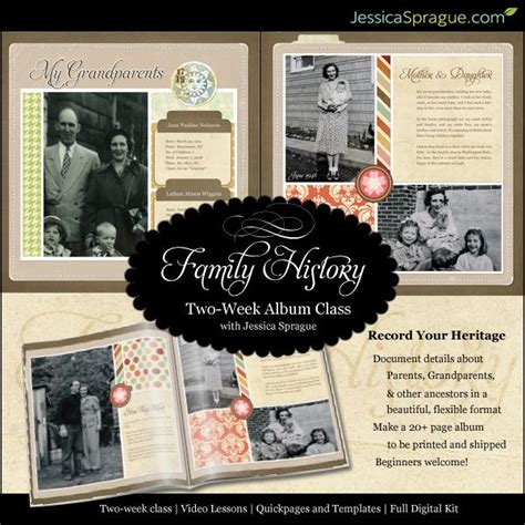 layout family history book scrapbooking your family history family history