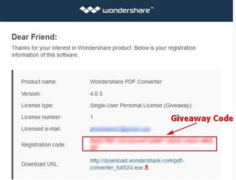 Wondershare Giveaway - giveaway wondershare pdf converter miễn ph 237 bản quyền 1 năm