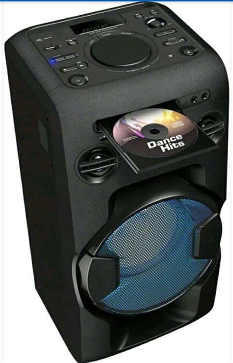 Speaker Power Up Bluetooth sony mhcv11c high power home audio system 2 way bluetooth speaker with karaoke option black